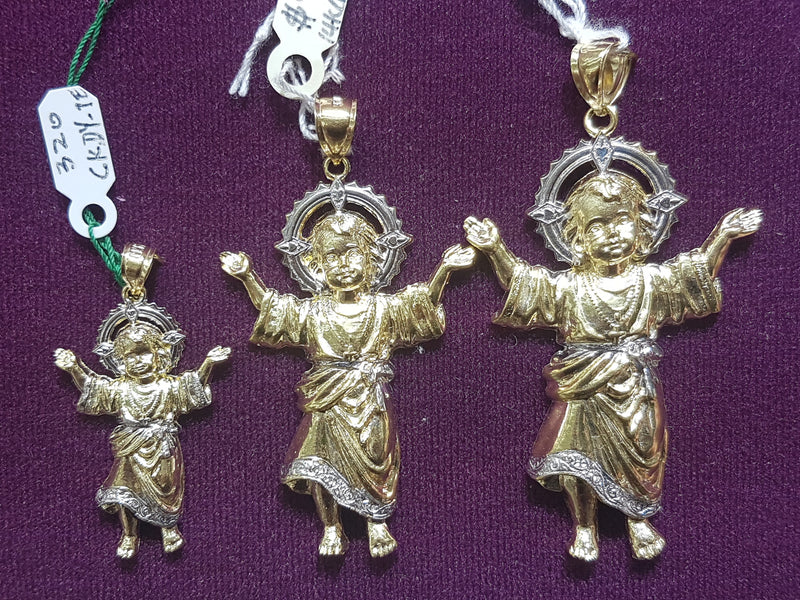 Baby Jesus White Halo Pendant 14K Comparison - Popular Jewelry