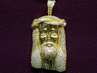 Iced-Out Jesus Head Silver - Lucky Diamond 恆福 珠寶 金 行 New York City 169 Canal Street 10013 Zlatara Playboi Charlie Chinatown @luckydiamondny 2124311180