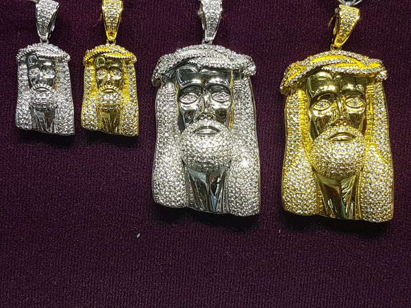 Arian Iced-Out Jesus Head - Popular Jewelry
