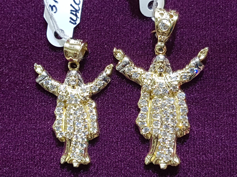 Iced-Out Jesus the Messiah Pendant 14K - Lucky Diamond 恆福珠寶金行 New York City 169 Canal Street 10013 Jewelry store Playboi Charlie Chinatown @luckydiamondny 2124311180