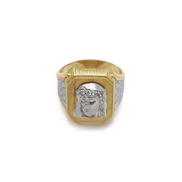 Jesus Head CZ Signet Ring (14K) Popular Jewelry New York