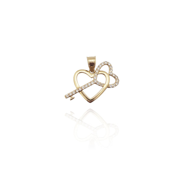 Keyelësi për The Heart CZ Pendant (14K) New York Popular Jewelry