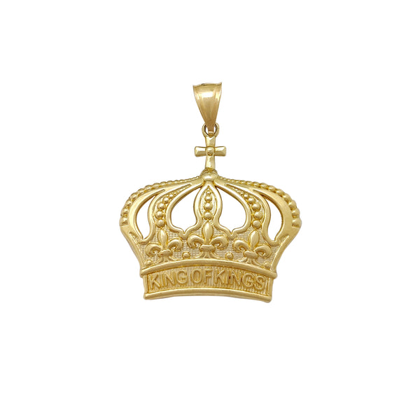 Medium King of Kings Crown Pendant (10K) Popular Jewelry New York