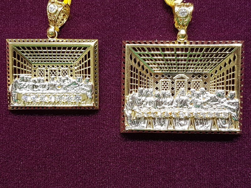 Last Supper Pendant 10K - Lucky Diamond 恆福珠寶金行 New York City 169 Canal Street 10013 Jewelry store Playboi Charlie Chinatown @luckydiamondny 2124311180