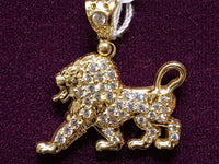 Iced-Out Lion Pendant 14K - Lucky Diamond 恆福 珠寶 金 行 New York City 169 Canal Street 10013 Juwelierswinkel Playboi Charlie Chinatown @luckydiamondny 2124311180