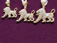 Iced-Out Lion Pendant 14K - Popular Jewelry