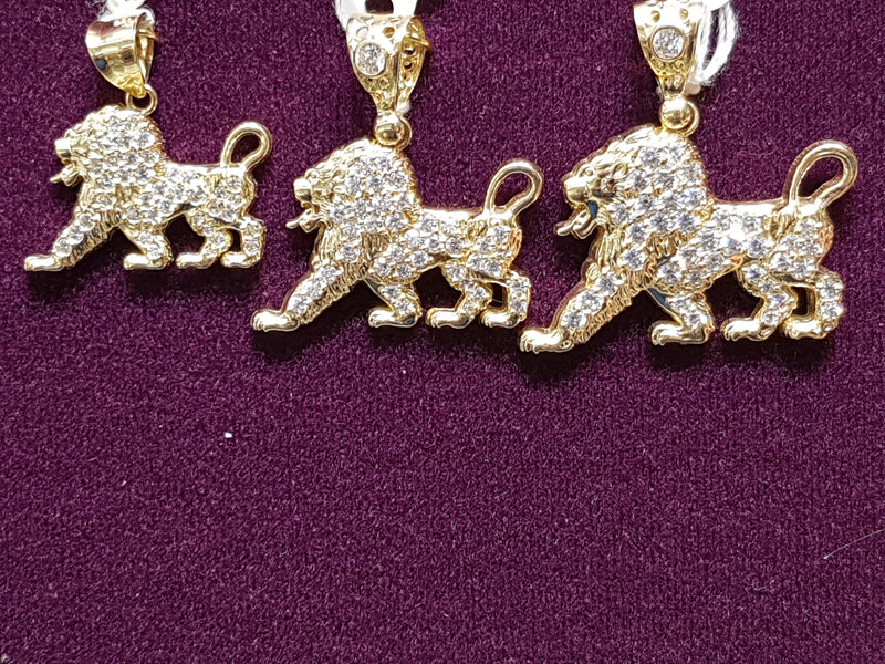 Iced-Out Lion Pendant 14K - Lucky Diamond 恆福珠寶金行 New York City 169 Canal Street 10013 Jewelry store Playboi Charlie Chinatown @luckydiamondny 2124311180