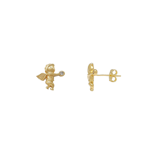 Little Angel Stud Earrings (14K) Popular Jewelry New York
