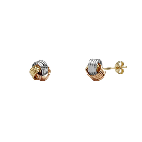 Love Knot Quadra Thread Stud Earrings (14K) Popular Jewelry New York