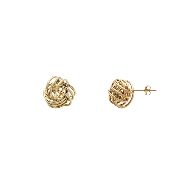 Love Knot Stud Earrings (14K) Popular Jewelry New York