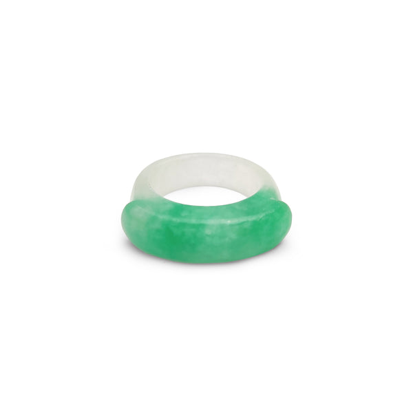 Anillo de jade verde veteado Popular Jewelry New York