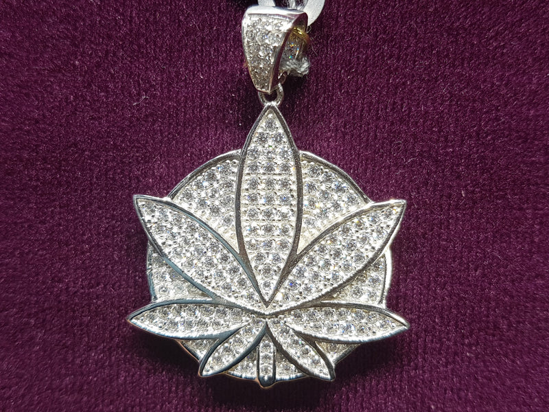 products/Marijuana-Medallion-Iced-Icy-CZ-Micropave-Pendant-White-Silver.jpg