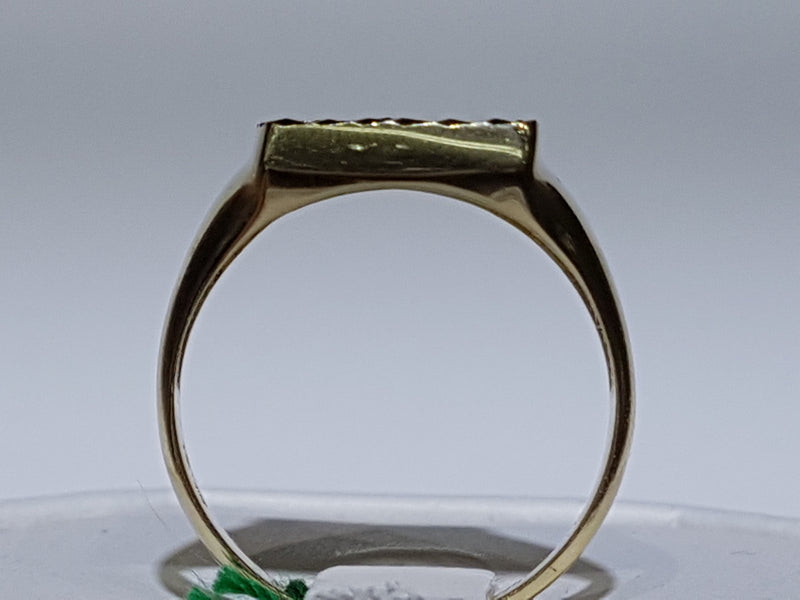 Marijuana Signet Ring 14K - Lucky Diamond 恆福珠寶金行 New York City 169 Canal Street 10013 Jewelry store Playboi Charlie Chinatown @luckydiamondny 2124311180