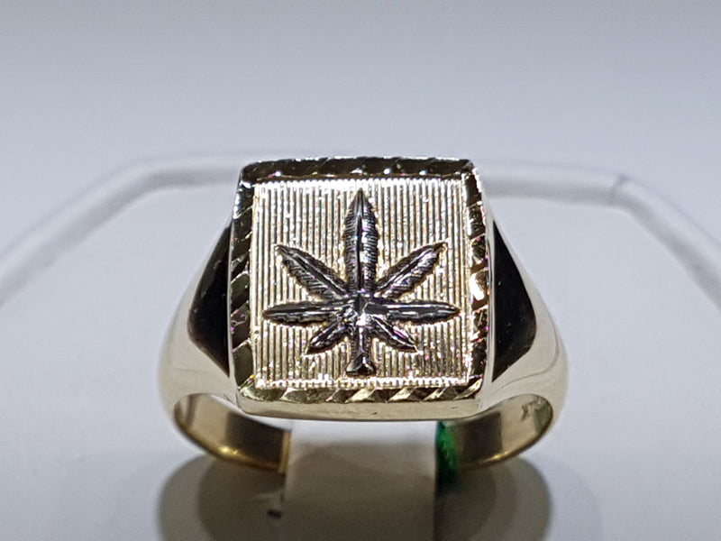 I-Marijuana Signet Ring 14K - Popular Jewelry