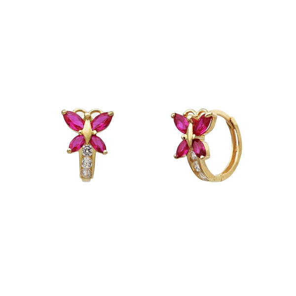 Marquise Butterfly Huggie Earrings (14K) Popular Jewelry New York