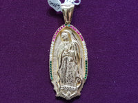 "Virgin Mary ""Lady of Guadalupe"" Pendant 14K - Lucky Diamond 恆福 珠寶 金 行 New York City 169 Canal Street 10013 Sieradenwinkel Playboi Charlie Chinatown @luckydiamondny 2124311180"