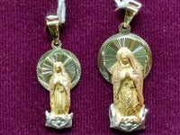 Virgin Mary Pendant Tricolor 14K - Lucky Diamond 恆福 珠寶 金 行 New York City 169 Canal Street 10013 Tindahan sa alahas Playboi Charlie Chinatown @luckydiamondny 2124311180