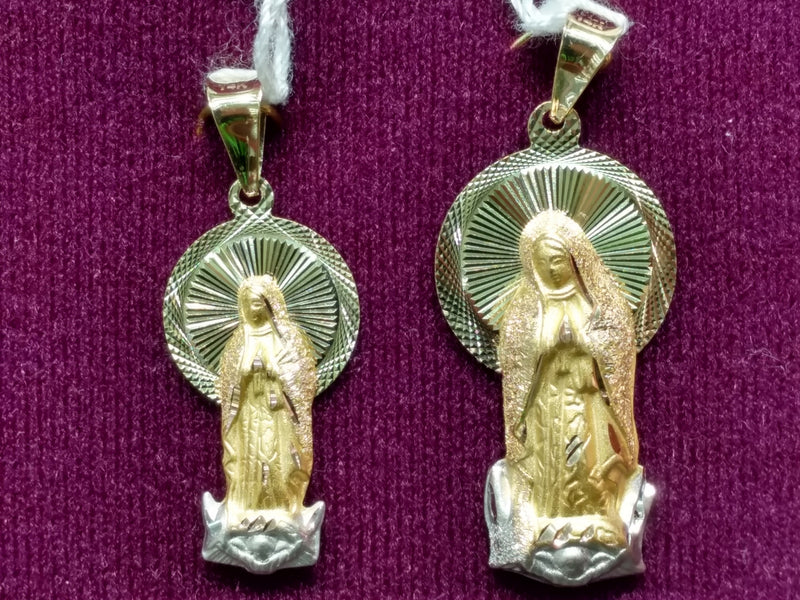 Virgin Mary Pendant Tricolor 14K - Lucky Diamond 恆福珠寶金行 New York City 169 Canal Street 10013 Jewelry store Playboi Charlie Chinatown @luckydiamondny 2124311180