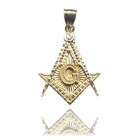 Compass & Square Mason Pendant 14K - Lucky Diamond 恆福 珠寶 金 行 New York City 169 Canal Street 10013 Magazen bijou Playboi Charlie Chinatown @luckydiamondny 2124311180