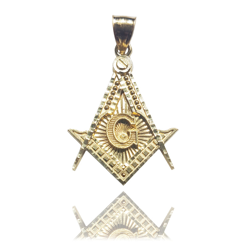Compass & Square Mason Pendant 14K - Lucky Diamond 恆福珠寶金行 New York City 169 Canal Street 10013 Jewelry store Playboi Charlie Chinatown @luckydiamondny 2124311180