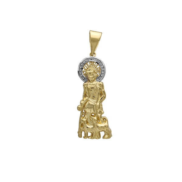 Mesh-Back Saint Lazarus Pendant (14K) Popular Jewelry New York