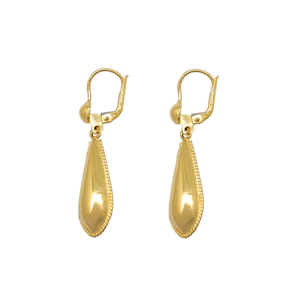 Milgrain Teardrop Earring (14K) Popular Jewelry New York