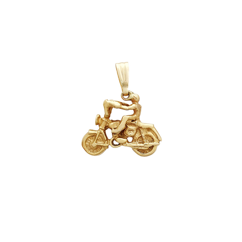 Přívěsek motocyklista (14K) Popular Jewelry New York