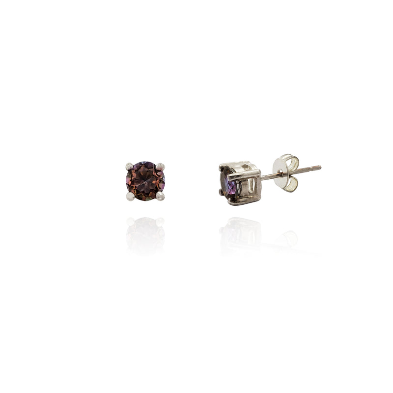 Miliva Gemstone Stud Earrings (Silver) Niu Ioka Popular Jewelry
