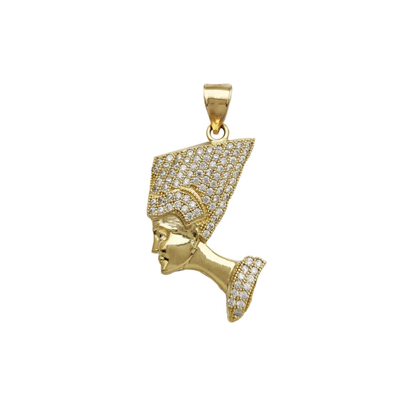 Iced Out Nefertiti Pendant (14K)
