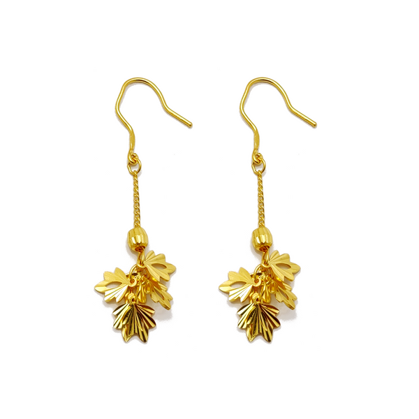 Oak-leaf Dangling Earrings (24K)