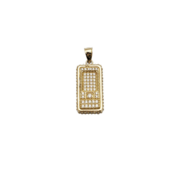 Old School Phone CZ Pendant (14K)