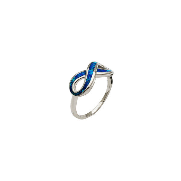 Opal Infinity Ring (Silver)