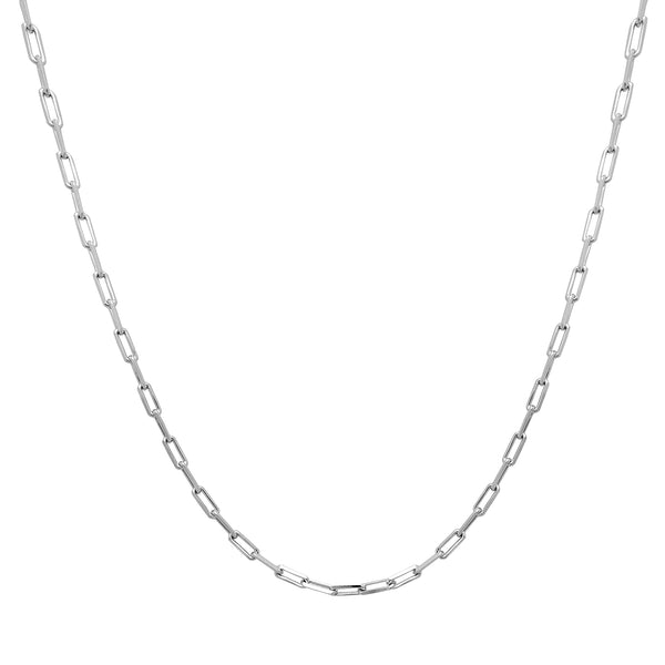Cadena de cable abierta (plata) Popular Jewelry New York