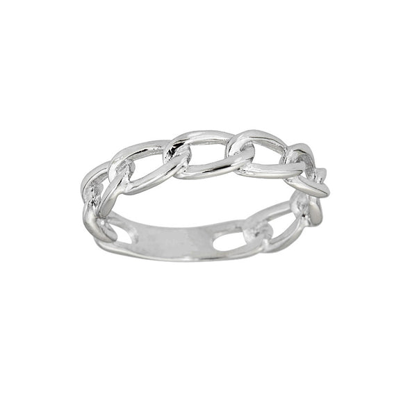 Open Cuban Style Ring (Silver) Popular Jewelry New York