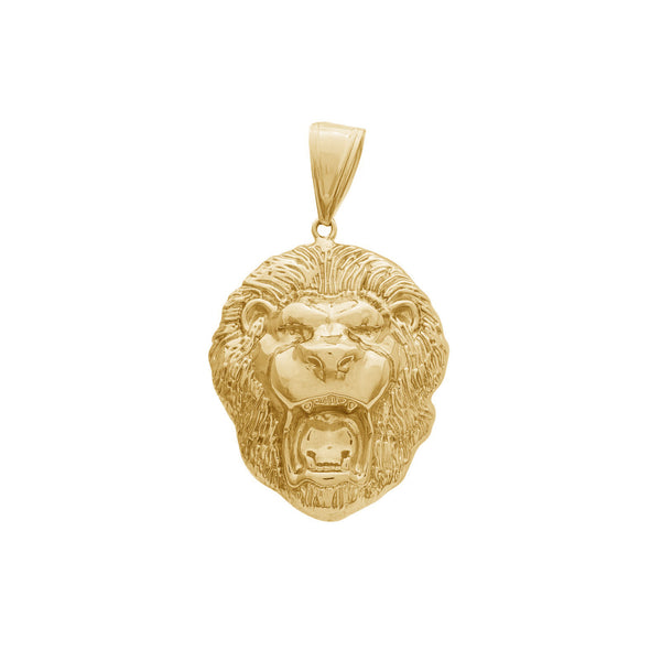 Lion Head Pendant (14K)