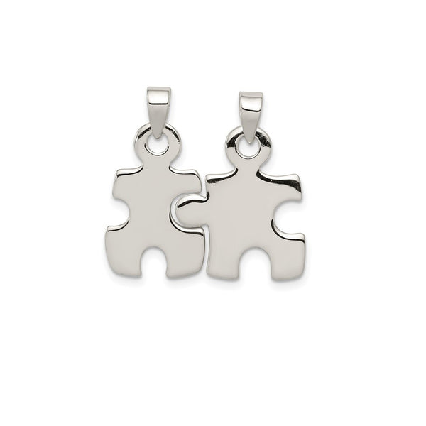 Polished Puzzle Pieces Pendant (Silver)