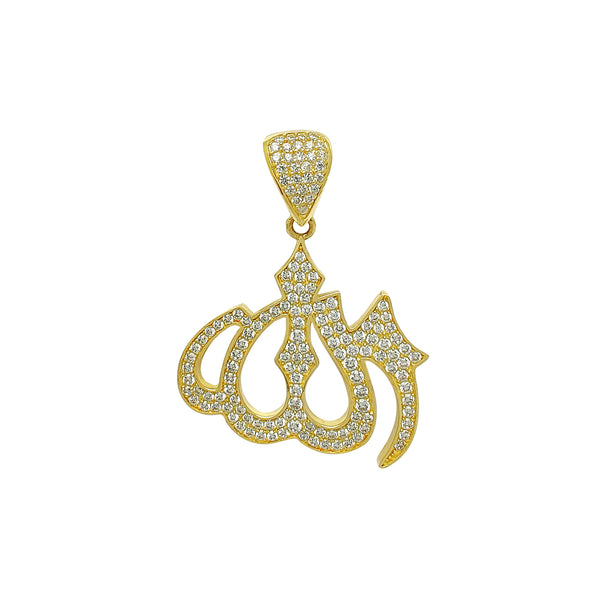 Pave Allah Pendant (14K) Popular Jewelry New York