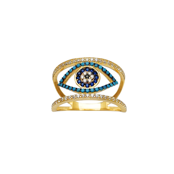 Pave Blue Evil Eye Ring (14K) Popular Jewelry New York
