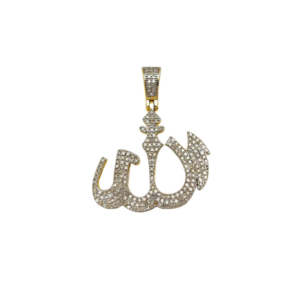 Pave Diamond Allah Pendant (10K) Popular Jewelry New York