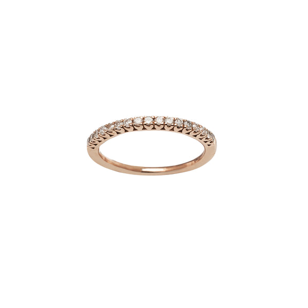 Pave Diamond Rose Gold Ring (14K) Popular Jewelry New York