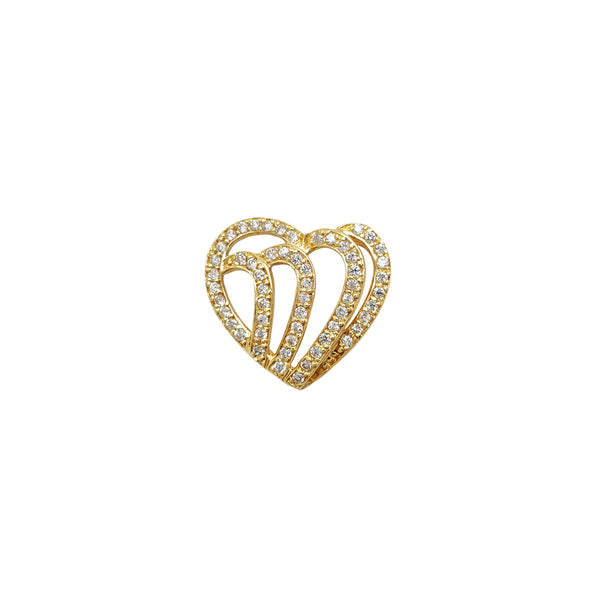 Pave Heart Outlined Pendant (14K) Popular Jewelry New York