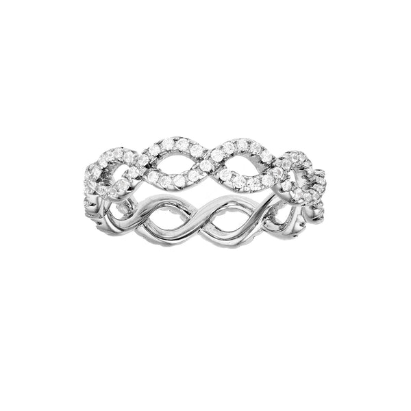 Pave Infinity Eternity Ring (Silver)