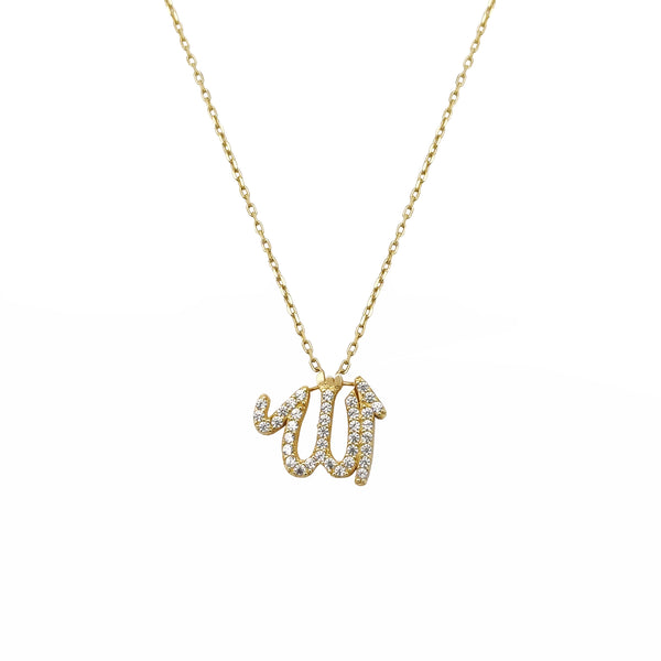 Nitgħallem Allah Necklace (14K) Popular Jewelry NY