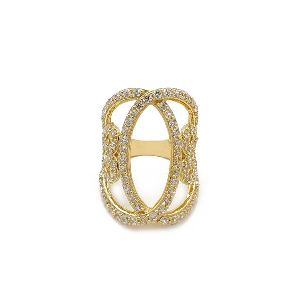 Ring Pave Heart (14K) Popular Jewelry Nûyork