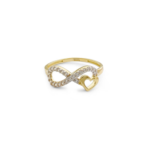 Pavimentar o anel do amor infinito (14K) Popular Jewelry New York