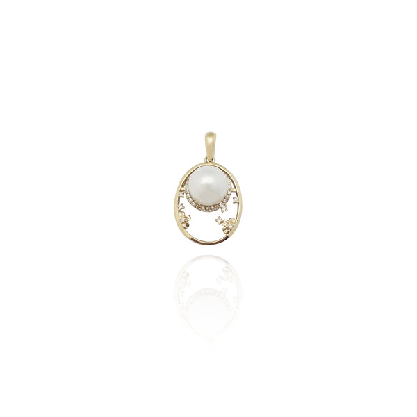 Pingente Pearl Astrolabe (14K) Nova York Popular Jewelry