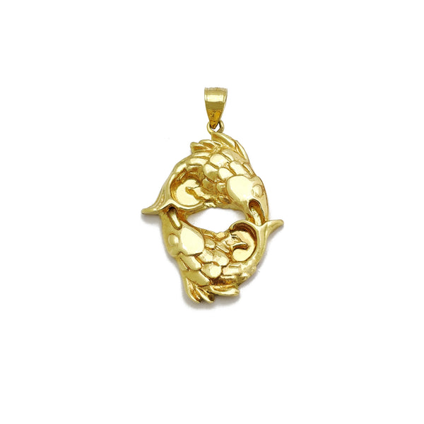 Zodiac Sign Pisces Pendant (14K) Popular Jewelry New York