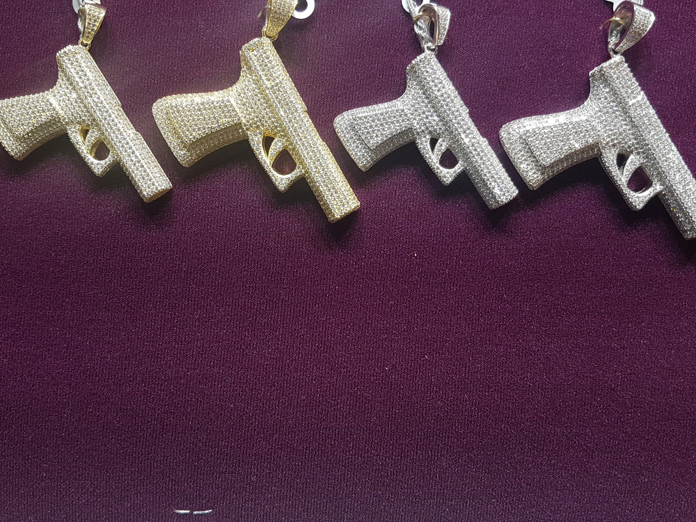Icy Pistol Pendant Silver (Multiple) - Popular Jewelry