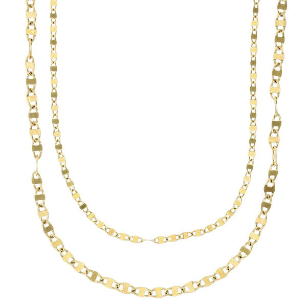 Plain Flat Gucci-Mariner Twist Chain (14K)