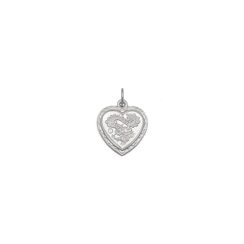 Ciondolo Cuore di drago (Platino) anteriore - Popular Jewelry - New York